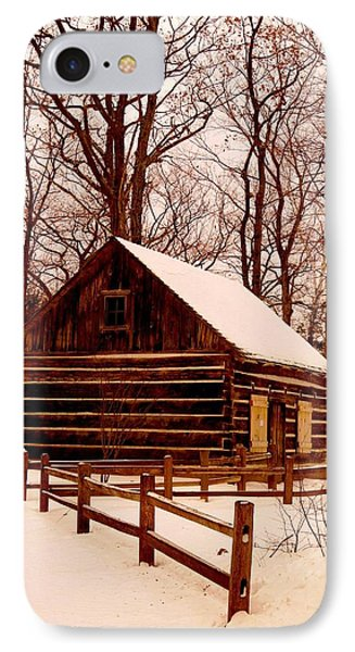 The Log Cabin At Old Mission Point IPhone Case by Daniel Thompson