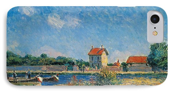 The Loing Canal At Saint-mammes Phone Case by Alfred Sisley