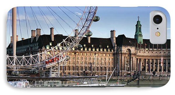 The London Eye And County Hall IPhone Case by Rod McLean