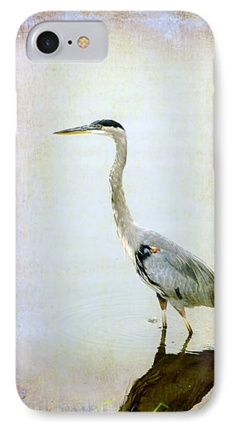 IPhone Case featuring the digital art The Lone Crane by Davina Washington