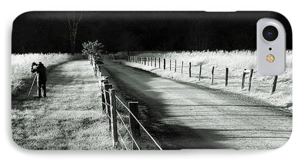 The Lone Photographer IPhone Case by Douglas Stucky