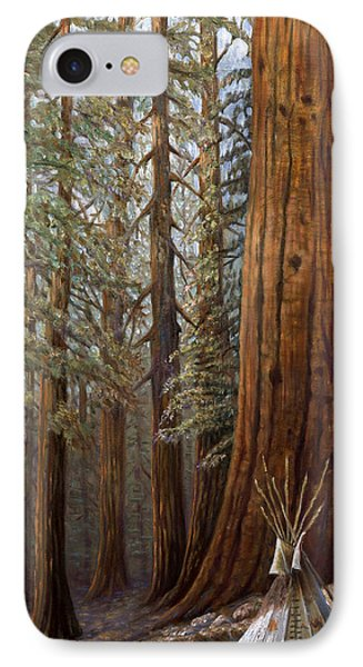 The Lone Tee Pee Redwood IPhone Case by Gregory Perillo