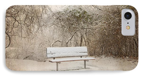The Lonely Bench Phone Case by Betty LaRue