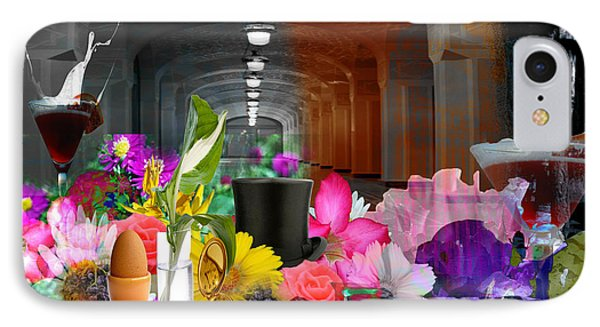 IPhone Case featuring the digital art The Long Collage by Cathy Anderson