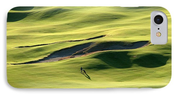 IPhone Case featuring the photograph The Long Green Walk - Chambers Bay Golf Course by Chris Anderson