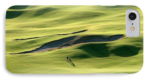 The Long Green Walk - Chambers Bay Golf Course IPhone Case by Chris Anderson