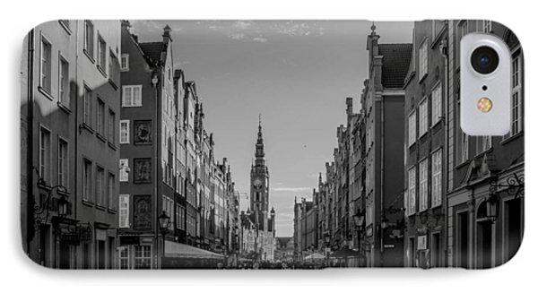 The Long Lane In Gdansk Bw Phone Case by Adam Budziarek