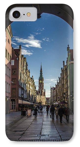 The Long Lane In Gdansk Seen From The Golden Gate Phone Case by Adam Budziarek