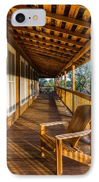 IPhone Case featuring the photograph The Long Porch by Beverly Parks