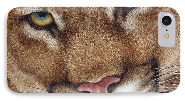 The Look Cougar IPhone Case by Pat Erickson