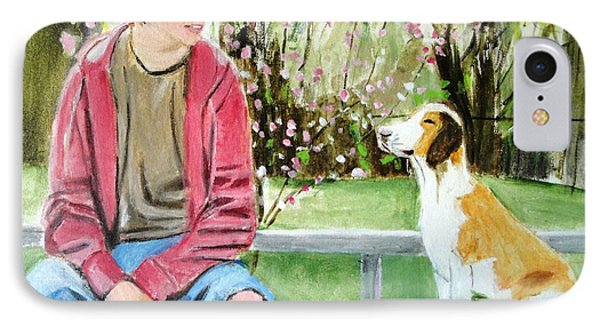 IPhone Case featuring the painting The Look Of Love by Judy Kay