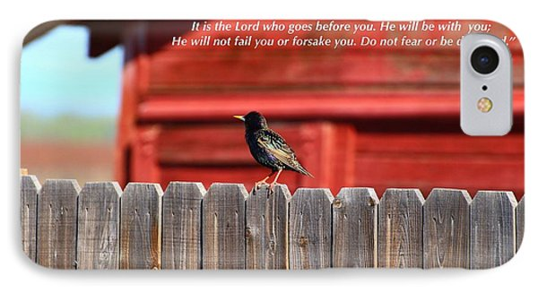 IPhone Case featuring the photograph The Lord Goes Before You by Lynn Hopwood