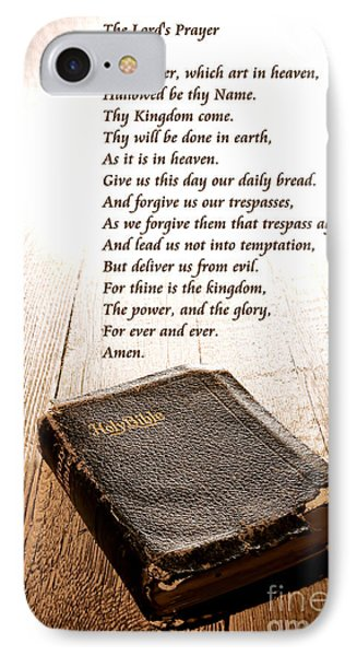The Lord's Prayer And Bible IPhone Case