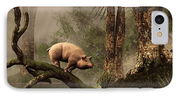 The Lost Pig IPhone Case by Daniel Eskridge