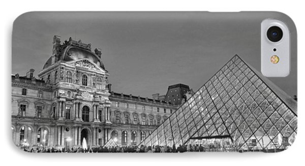 The Louvre Black And White IPhone Case by Allen Beatty