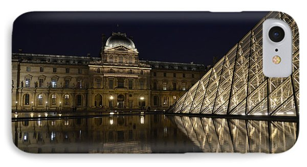 The Louvre Palace And The Pyramid At Night Phone Case by RicardMN Photography