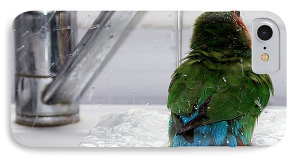 The Lovebird's Shower Phone Case by Terri Waters