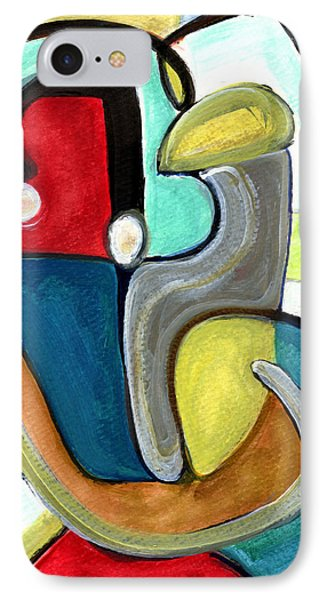 IPhone Case featuring the painting The Lovers by Stephen Lucas