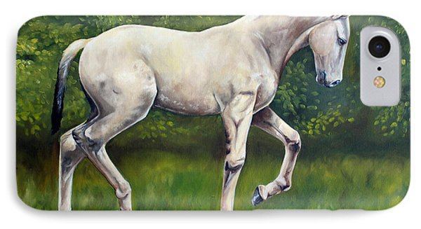 IPhone Case featuring the painting The Lusitano by Debbie Hart
