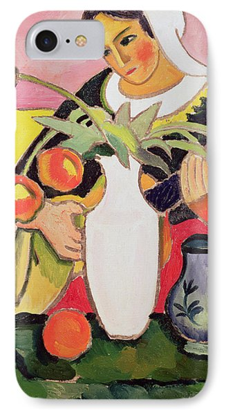 The Lute Player IPhone Case by August Macke