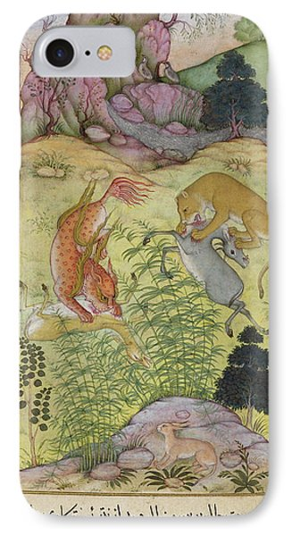 The Lynx And The Lion IPhone Case by British Library