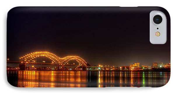 The M Bridge Over The Mississippi River At Memphis Tn IPhone Case by Reid Callaway