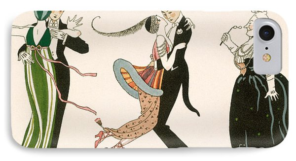 The Madness Of The Day Phone Case by Georges Barbier