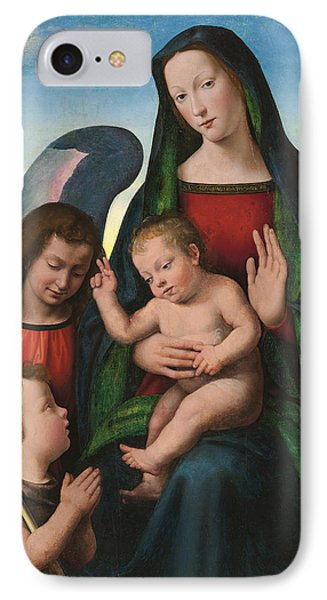 The Madonna And Child With The Young Saint John The Baptist And An Angel  IPhone Case