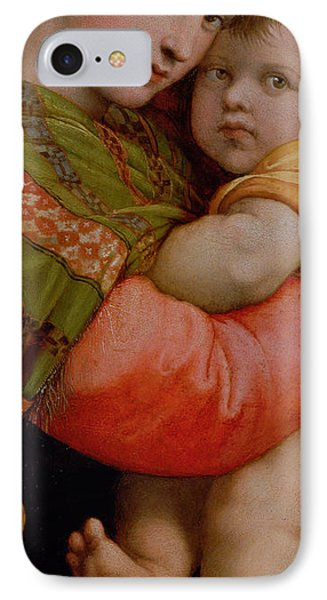 The Madonna Of The Chair IPhone Case by Raphael
