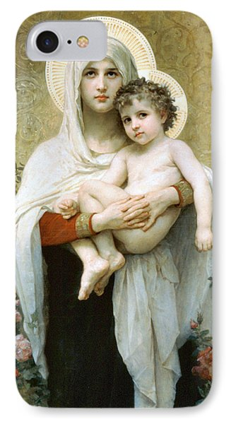 The Madonna Of The Roses Phone Case by William Bouguereau