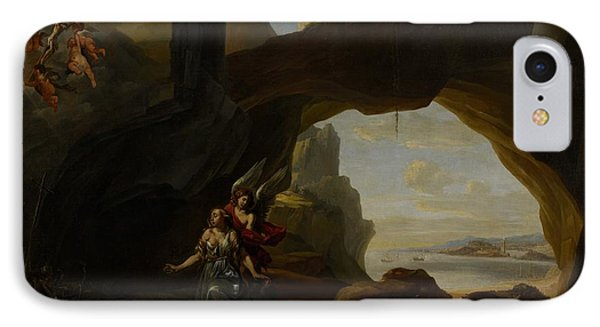 The Magdalen In A Cave IPhone Case by Johannes Lingelbach