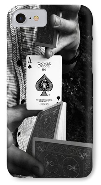 The Magic Card IPhone Case by Lucy D