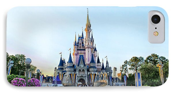 The Magic Kingdom Castle On A Beautiful Summer Day Horizontal Phone Case by Thomas Woolworth