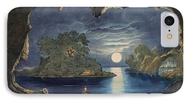 The Magic Lake Circa 1856  IPhone Case by Aged Pixel