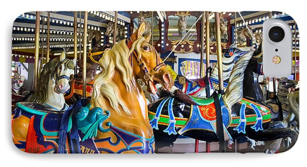 The Magical Machine - Carousel IPhone Case by Colleen Kammerer