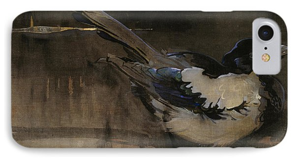 The Magpie Phone Case by Joseph Crawhall