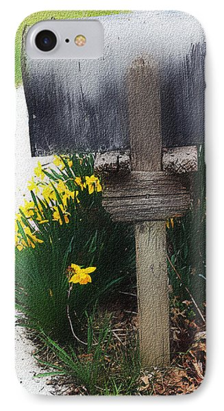 IPhone Case featuring the photograph The Mailbox - Digital Watercolor by Ellen Tully