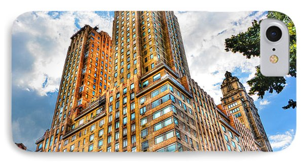 The Majestic Building Central Park West IPhone Case by Randy Aveille