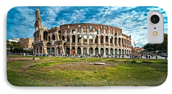The Majestic Coliseum - Rome Phone Case by Luciano Mortula