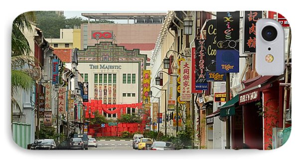 IPhone Case featuring the photograph The Majestic Theater Chinatown Singapore by Imran Ahmed