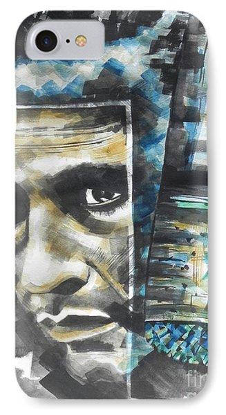The Man In Black  Singer Johnny Cash Phone Case by Chrisann Ellis