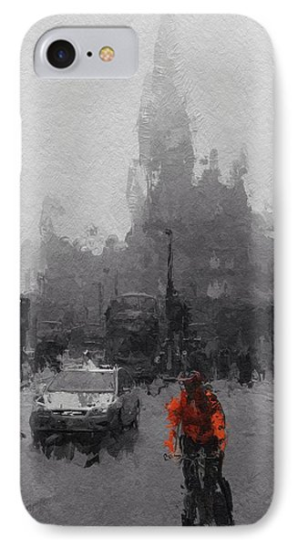 The Man On The Bicycle IPhone Case by Steve K