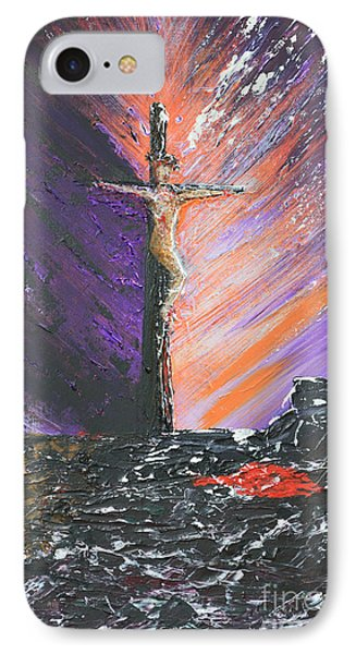 The Man On The Cross Phone Case by Alys Caviness-Gober