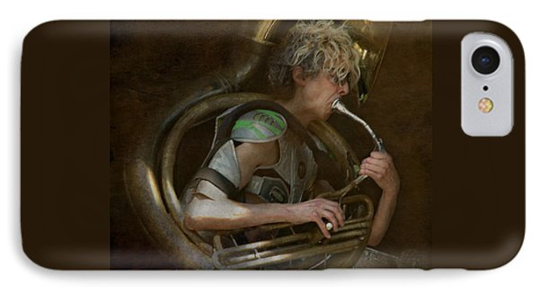 The Man - The Tuba IPhone Case by Jeff Burgess