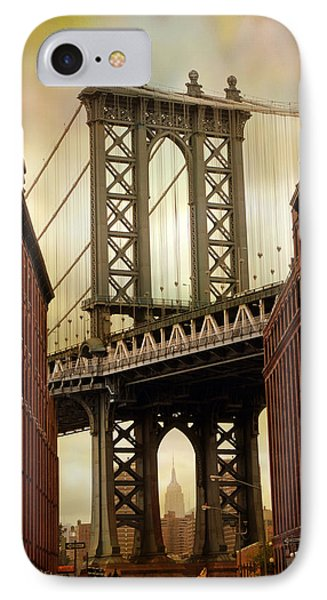 The Manhattan Bridge IPhone Case by Jessica Jenney