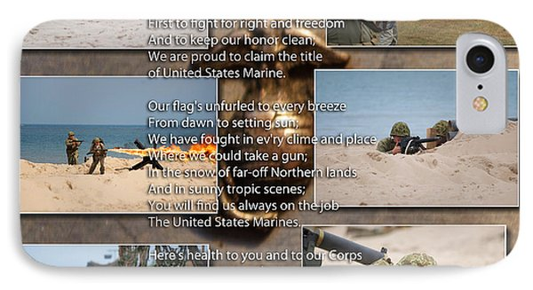 The Marine Corp Hymn Phone Case by Thomas Woolworth