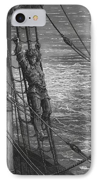 The Mariner Describes To His Listener The Wedding Guest His Feelings Of Loneliness And Desolation  Phone Case by Gustave Dore