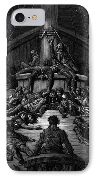 The Mariner Gazes On His Dead Companions And Laments The Curse Of His Survival While All His Fellow  Phone Case by Gustave Dore