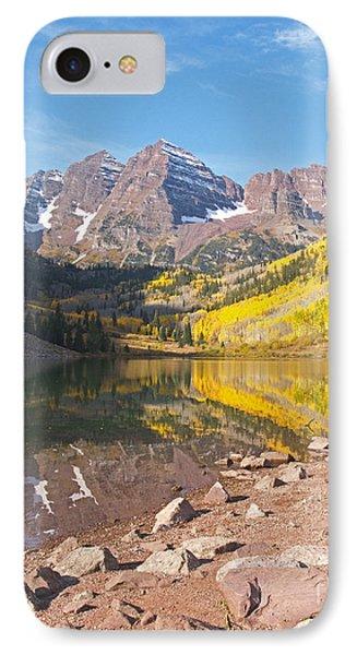 The Maroon Bells Near Aspen Colorado Phone Case by Alex Cassels