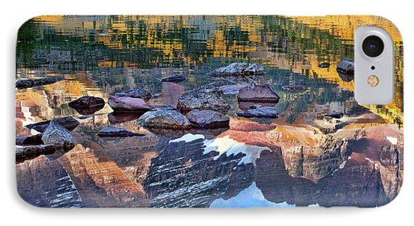 IPhone Case featuring the photograph The Maroon Bells Reflected by Jim Garrison